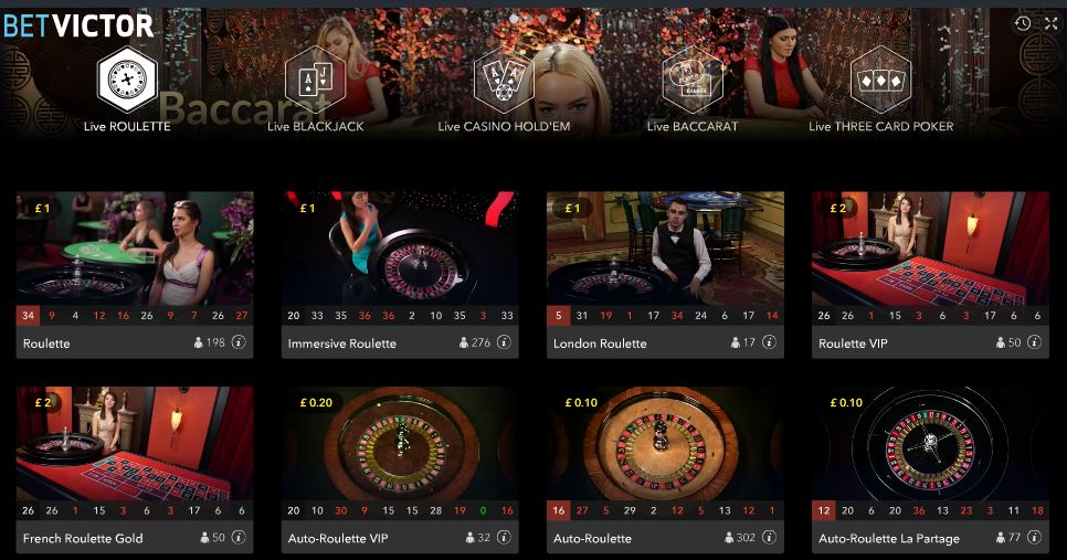 betvictor 10p roulette