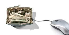 wallet with a mouse
