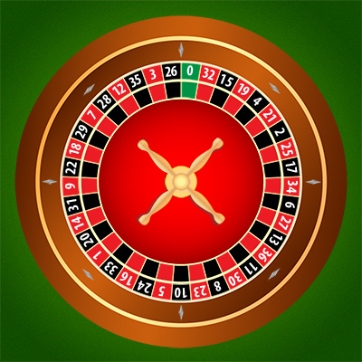 Picture of an european roulette wheel